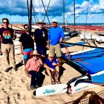 The Hobie sailors give the venue a 'thumbs up'